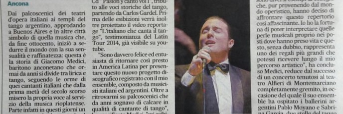 articolo corriere adriatico tour argentina 2016